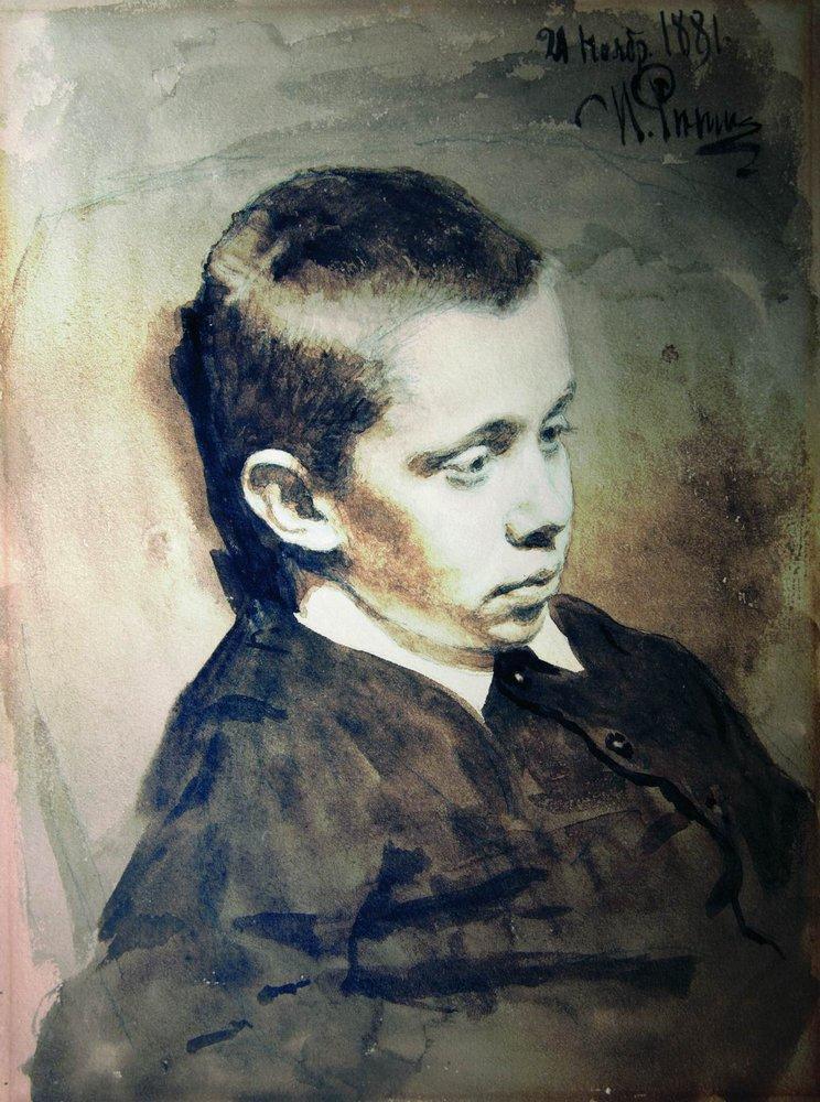 Илья Ефимович Репин. Портрет А.С.Матвеева в детстве