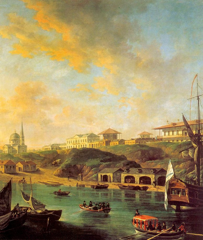 Fedor Yakovlevich Alekseev. The view of the city of Nikolaev