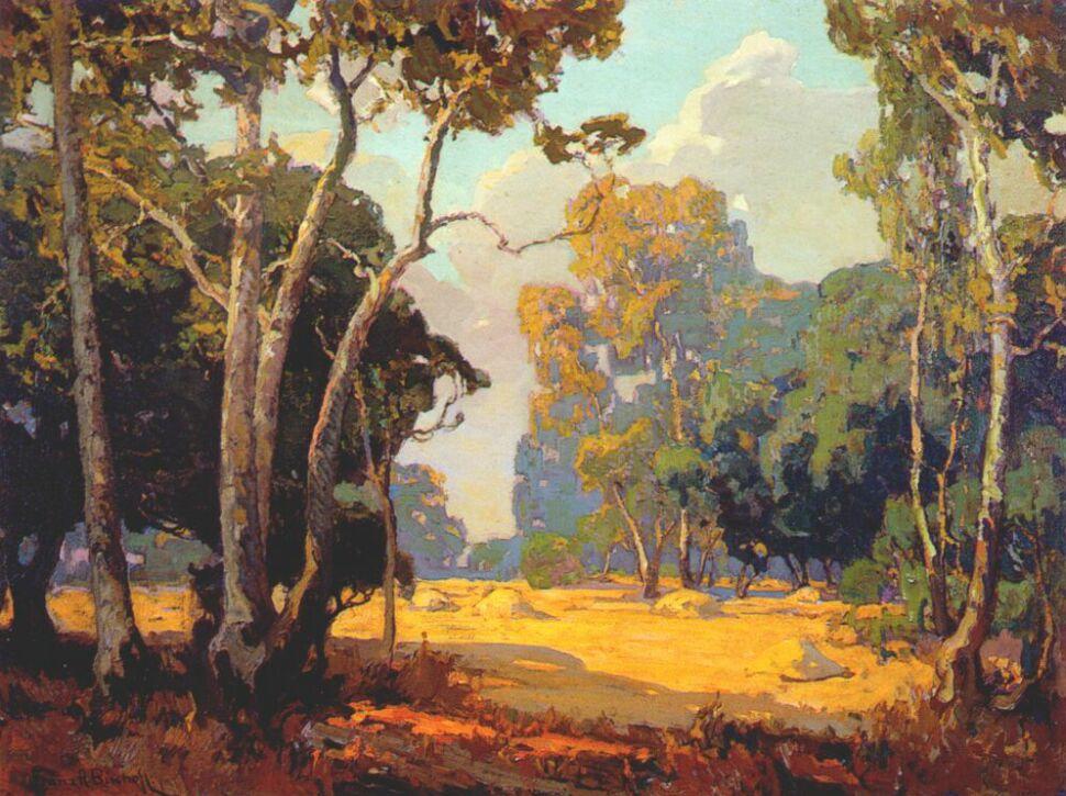 Franz Bischoff. Summer landscape
