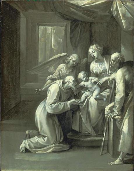 Чезари Джузеппе (Кавалер д'Арпино). Святое семейство со святым Антонием Падуанским и ангелом