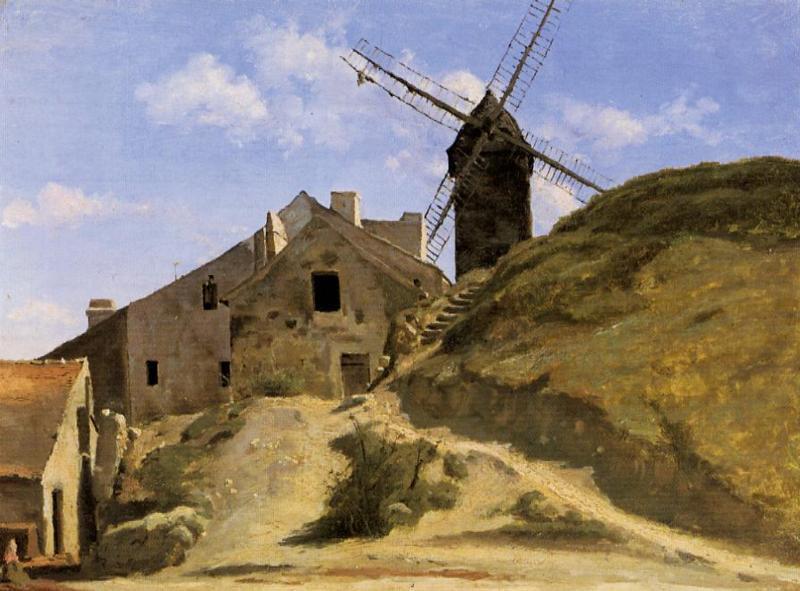 Камиль Коро. Мельница на Монмартре