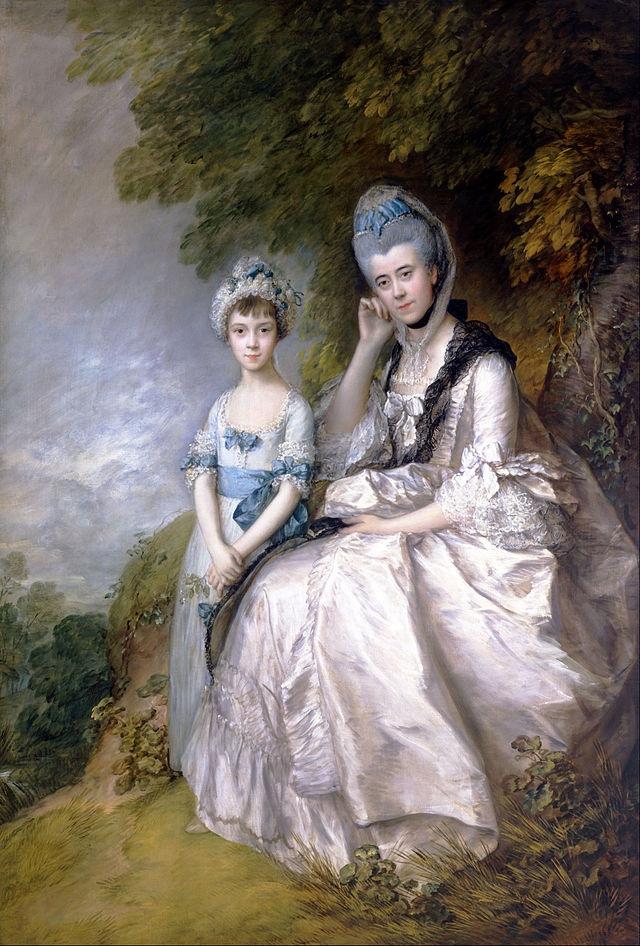 Томас Гейнсборо. Эстер, графиня Сассекса, со своей дочерью, леди Барбарой Элвертон