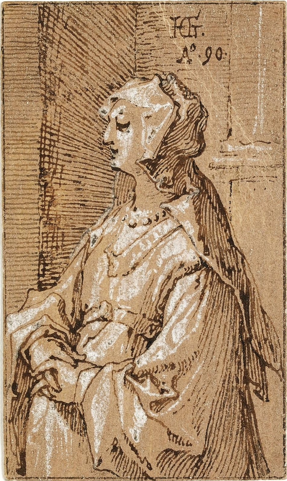 Hendrik Goltzius. Woman with a veil.