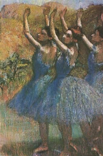 Три танцовщицы в фиолетовом