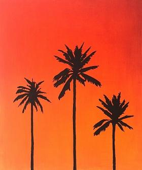 Karolina Valeryevna Pavlenko. Sunny palm trees
