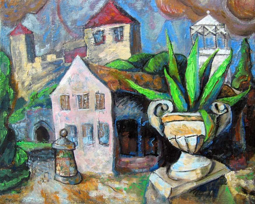 Dmitry Terekhov. Cubism. Resort, cactus, castle.