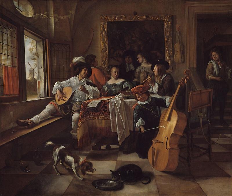 Jan Steen. Family concert