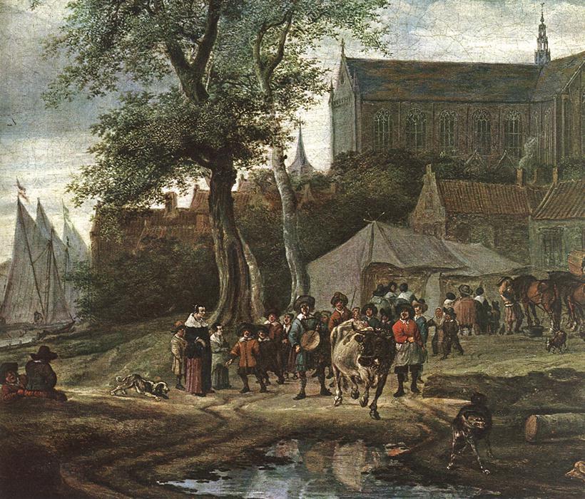 Саломон ван Рёйсдал. Таверна с майским деревом. Фрагмент