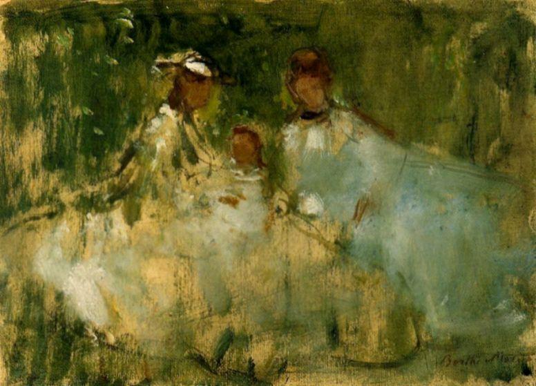 Берта Моризо. Женщины и маленькие девочки на фоне природы