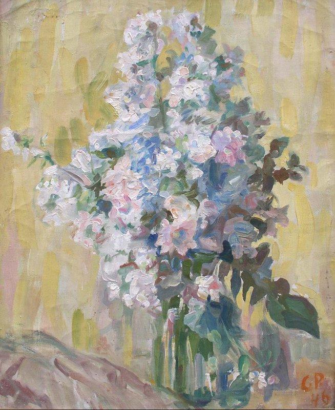 Sergey Mikhailovich Romanovich. Цветы в стеклянной банке