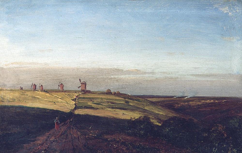 Alexey Petrovich Bogolyubov. Ablyazovo. Stubble and mills. 1887