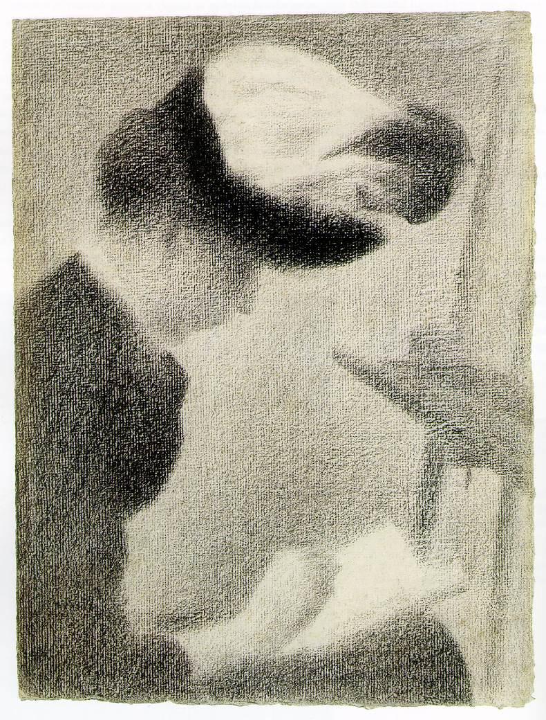 Жорж Сёра. Женщина сидящая у станка