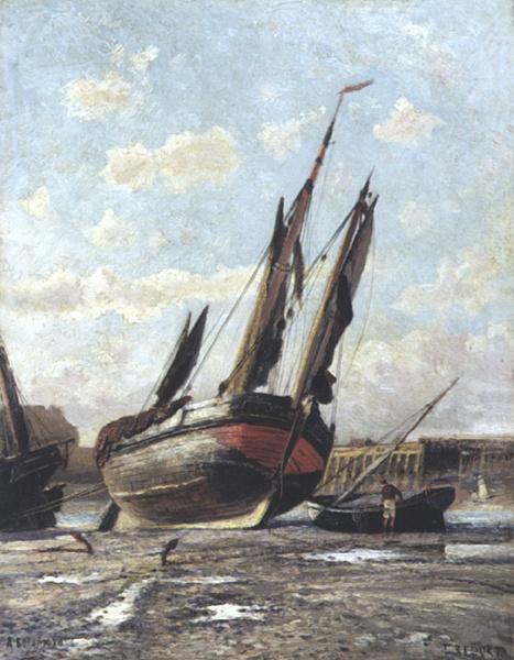 Алексей Петрович Боголюбов. Отлив в гавани