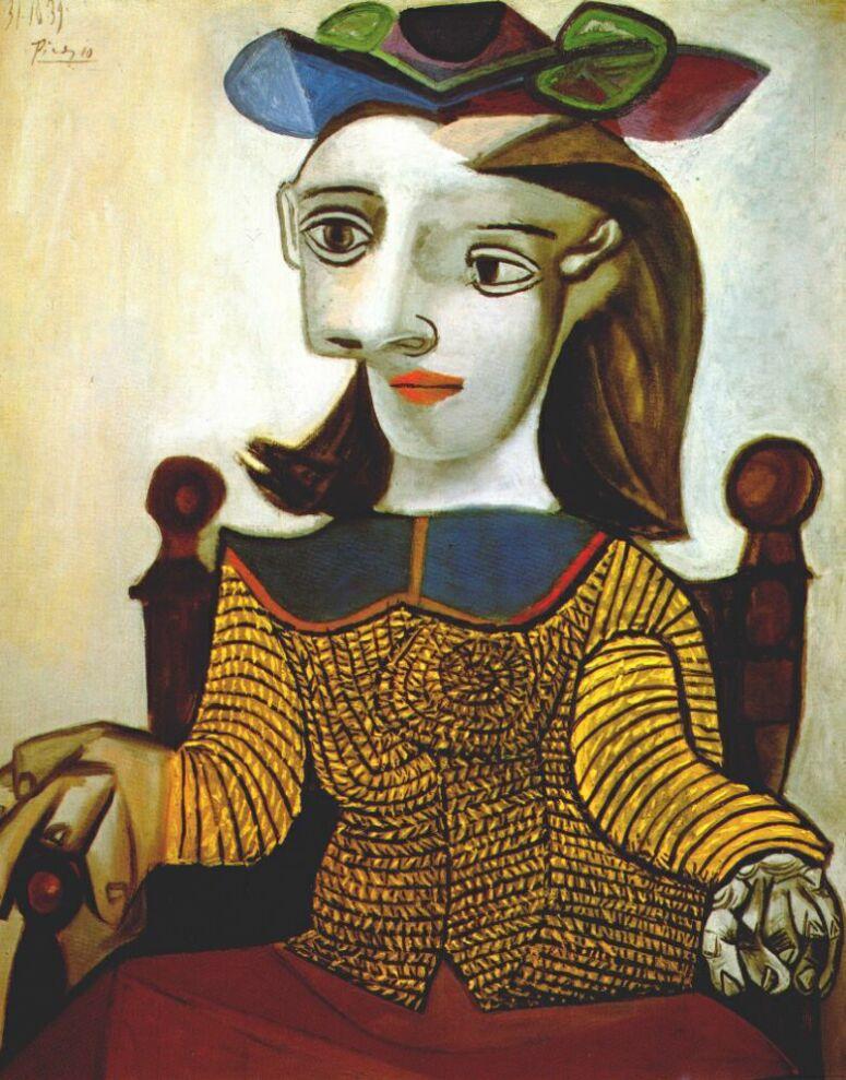 Пабло Пикассо. Желтый свитер