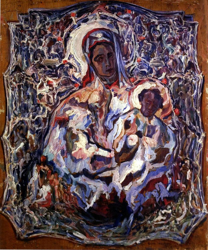 Madonna in silver riza