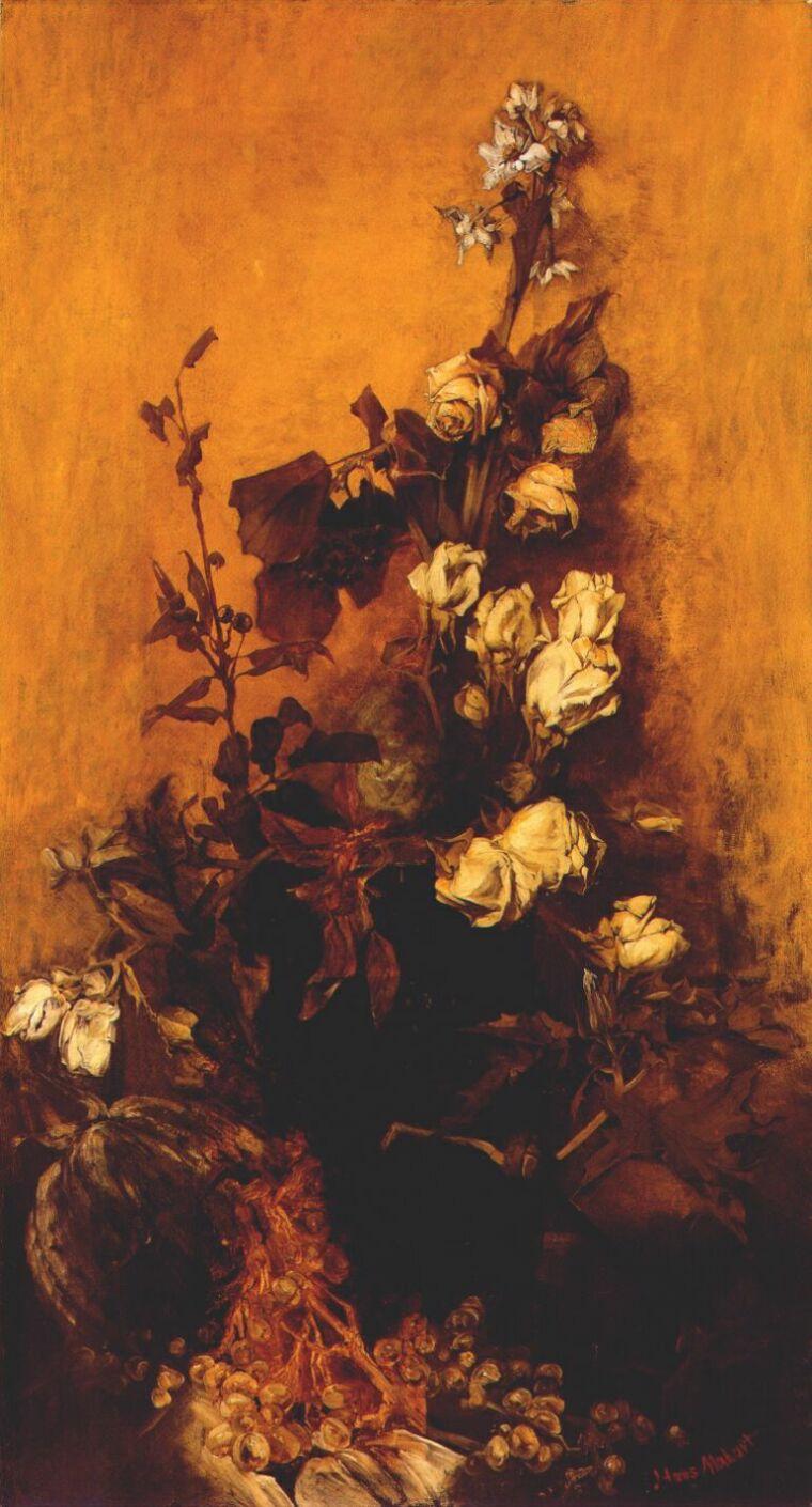 Hans Makart. Still life with roses