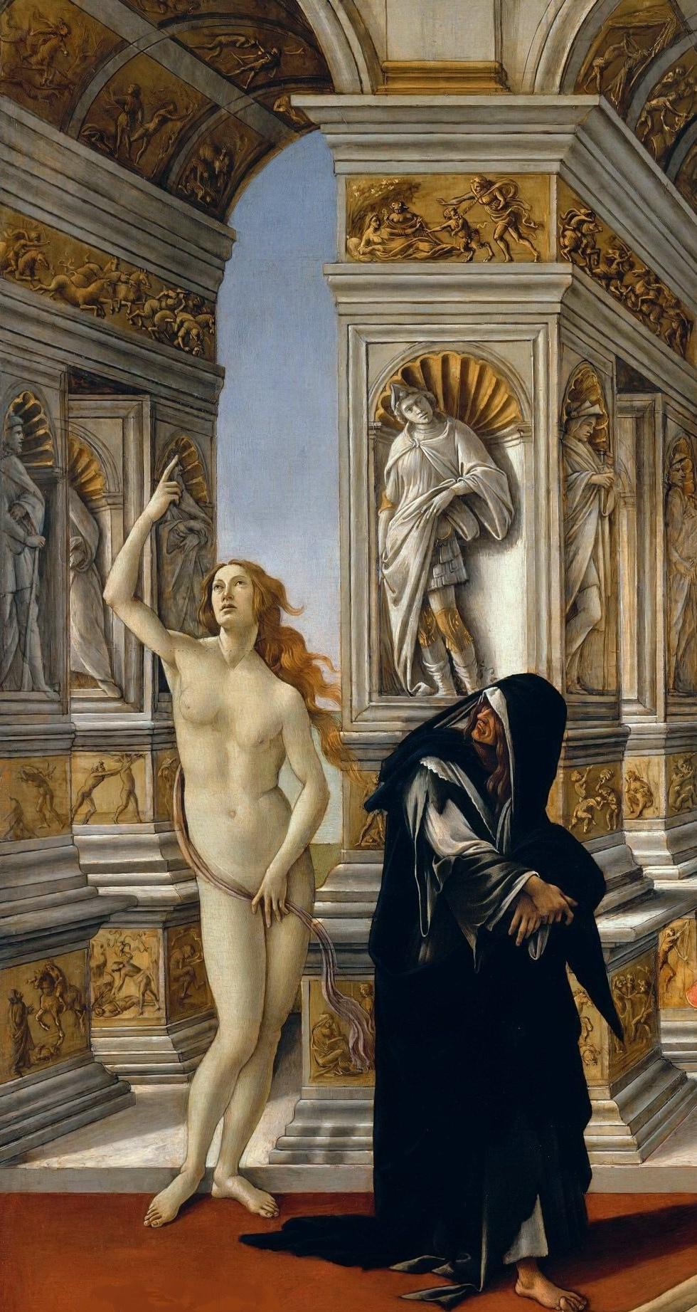 Sandro Botticelli. Slander (fragment)