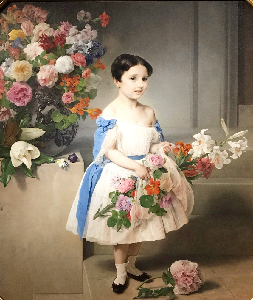 Francesco Ayets. Portrait of Antonietta Negroni Prati Morosini as a child