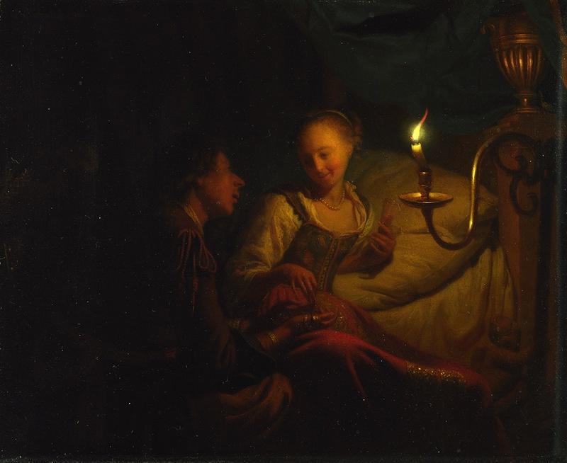 Годфрид Схалкен. Мужчина, предлагающий девушке золото и монеты