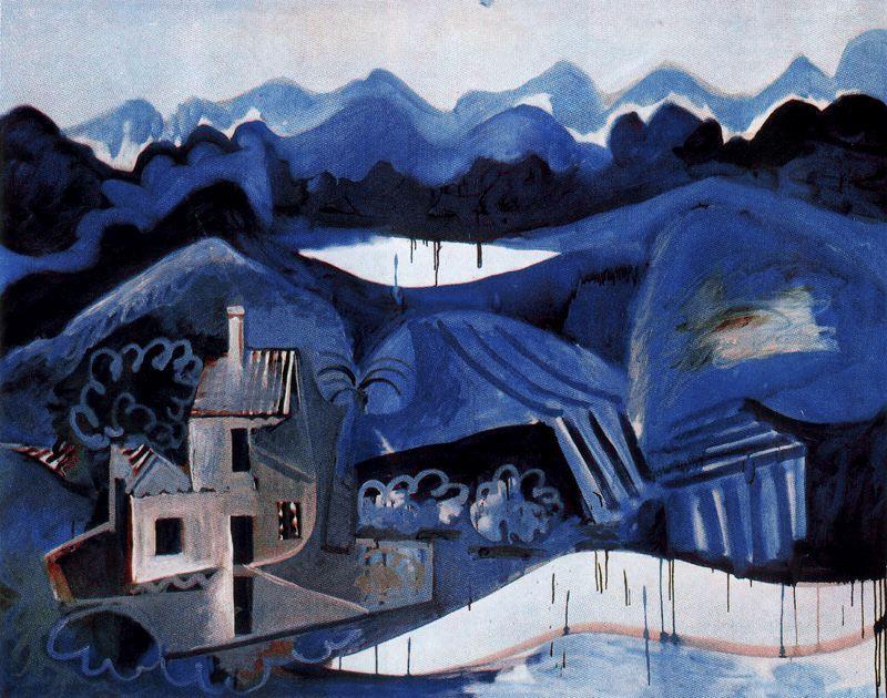 Пабло Пикассо. Пейзаж в Мужене