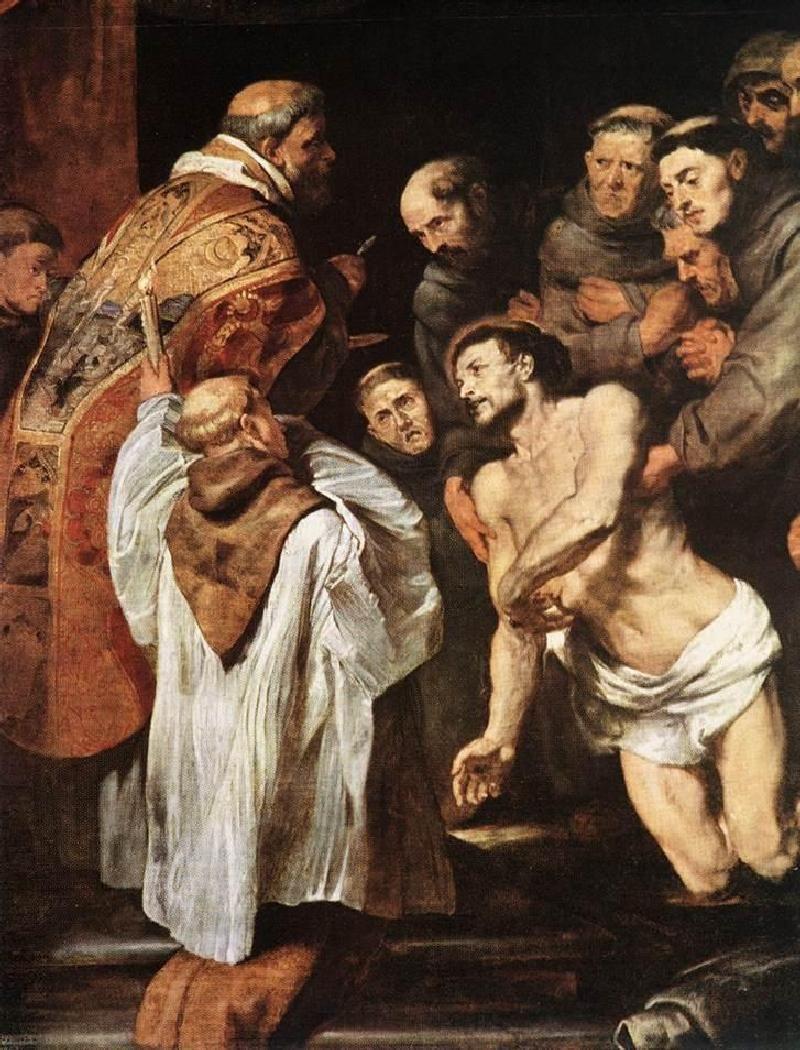 Питер Пауль Рубенс. Последнее причастие Франциска Ассизского (фрагмент)