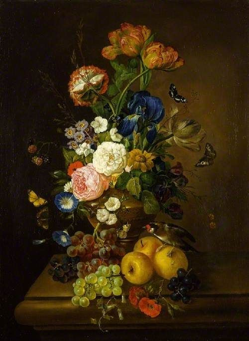 Mary Moser. Vase with flowers