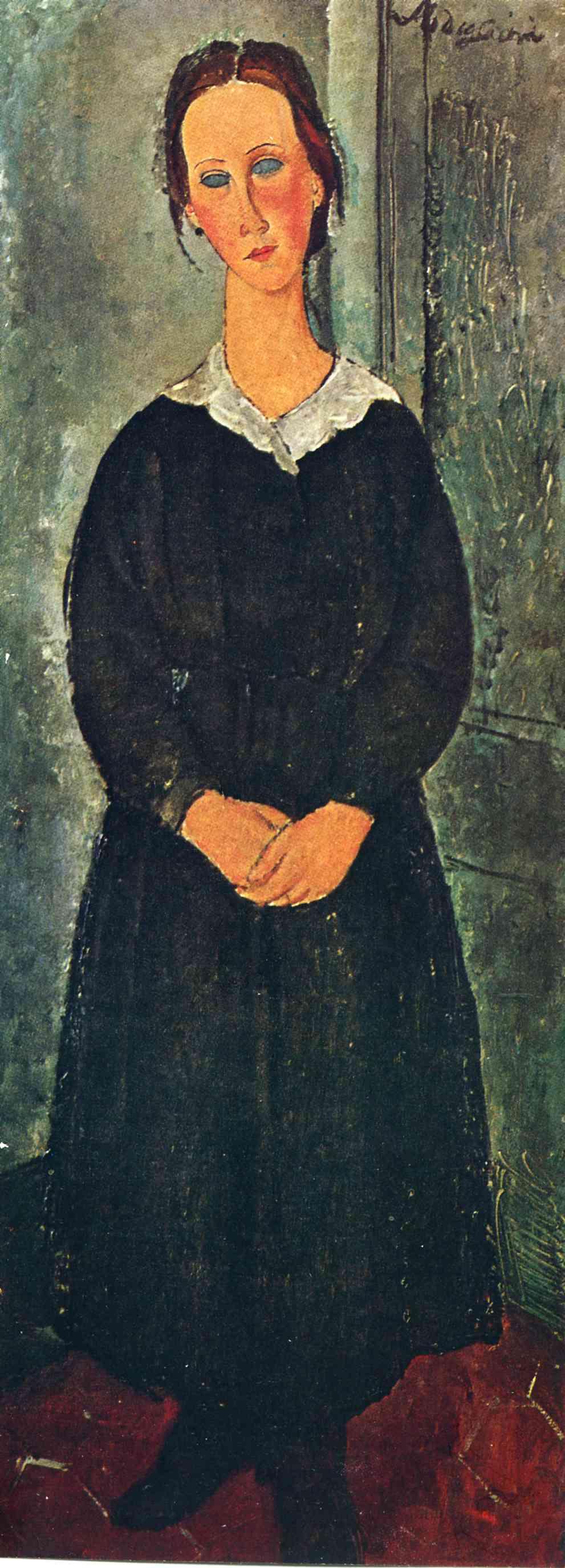 Амедео Модильяни. Служанка. Портрет молодой женщины