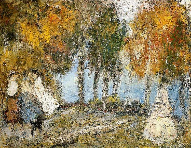 Anatoly Stepanovich Slepyshev. Golden autumn