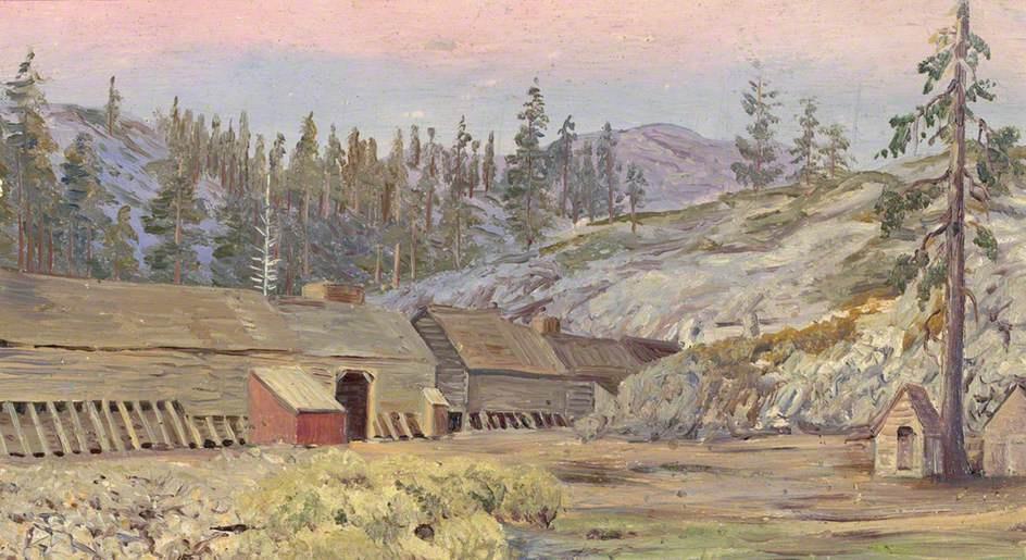 Marianna North. Winter Barracks on the Great Pacific Railroad, California