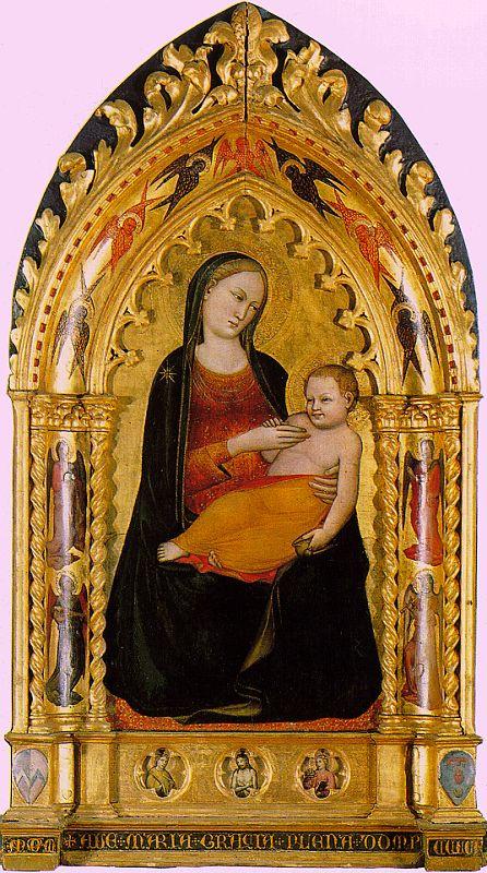 Никколо ди Пьетро Джерини. Мадонна с младенцем