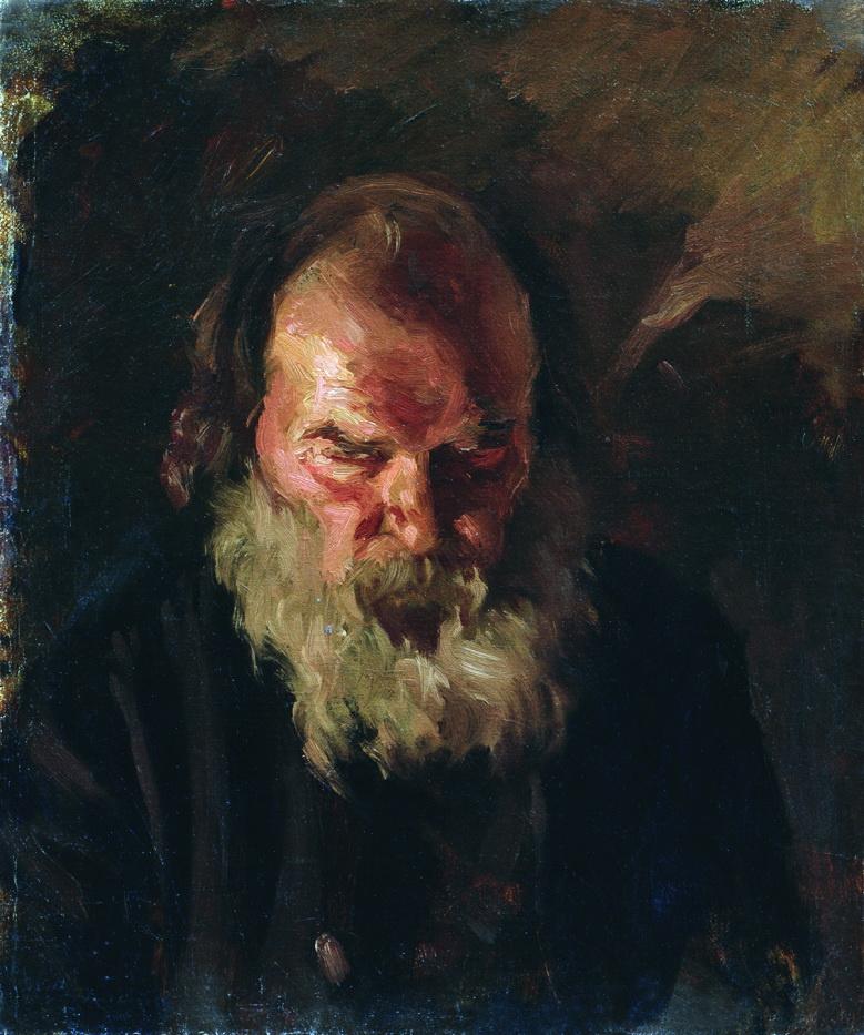 Nikolay Aleksandrovich Yaroshenko. The old man's head.