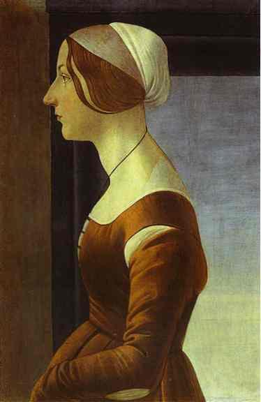 Сандро Боттичелли. Женский портрет