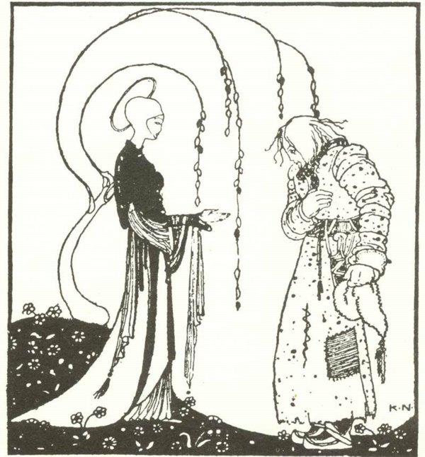 Кей Нильсен. Иллюстрация к  сказке  На восток от солнца, на запад от луны 17