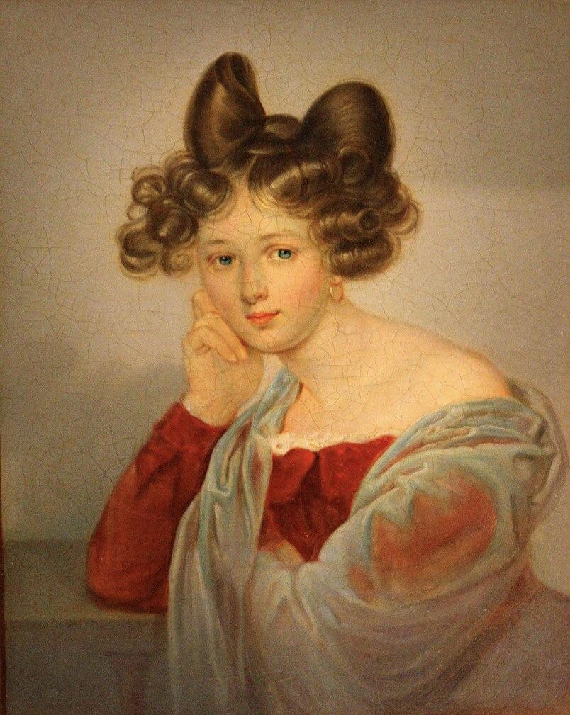 Portrait of Eleanor Tyutcheva, nee. Countess Bothmer. Late 1820s