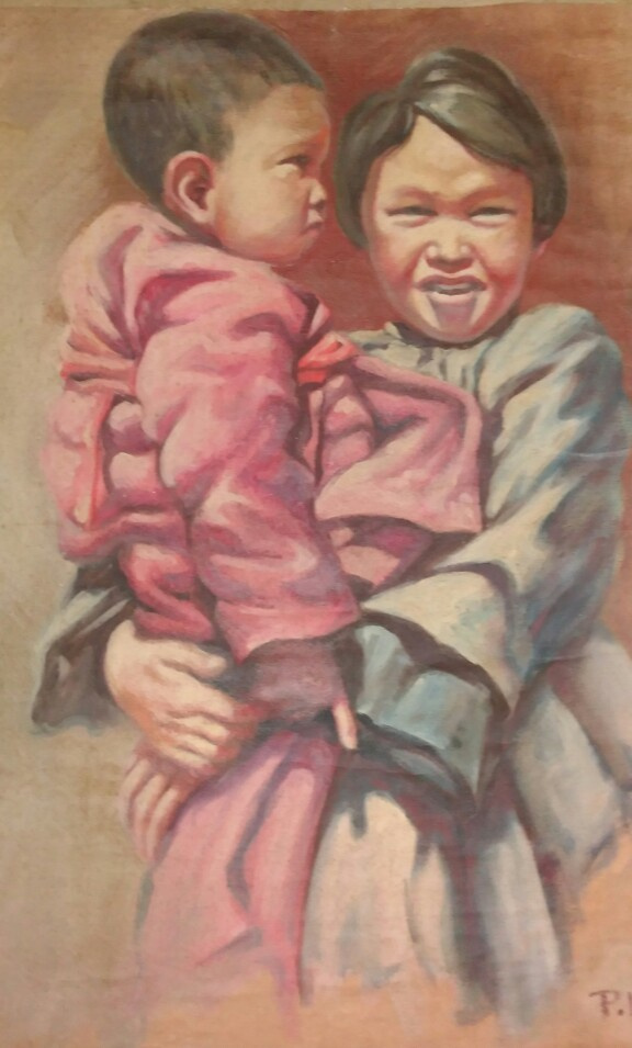Pavel Danilovich Voronkin. Chinese girl with a child