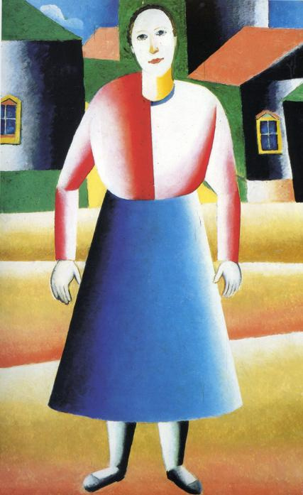 Kazimir Malevich. Girl in the village