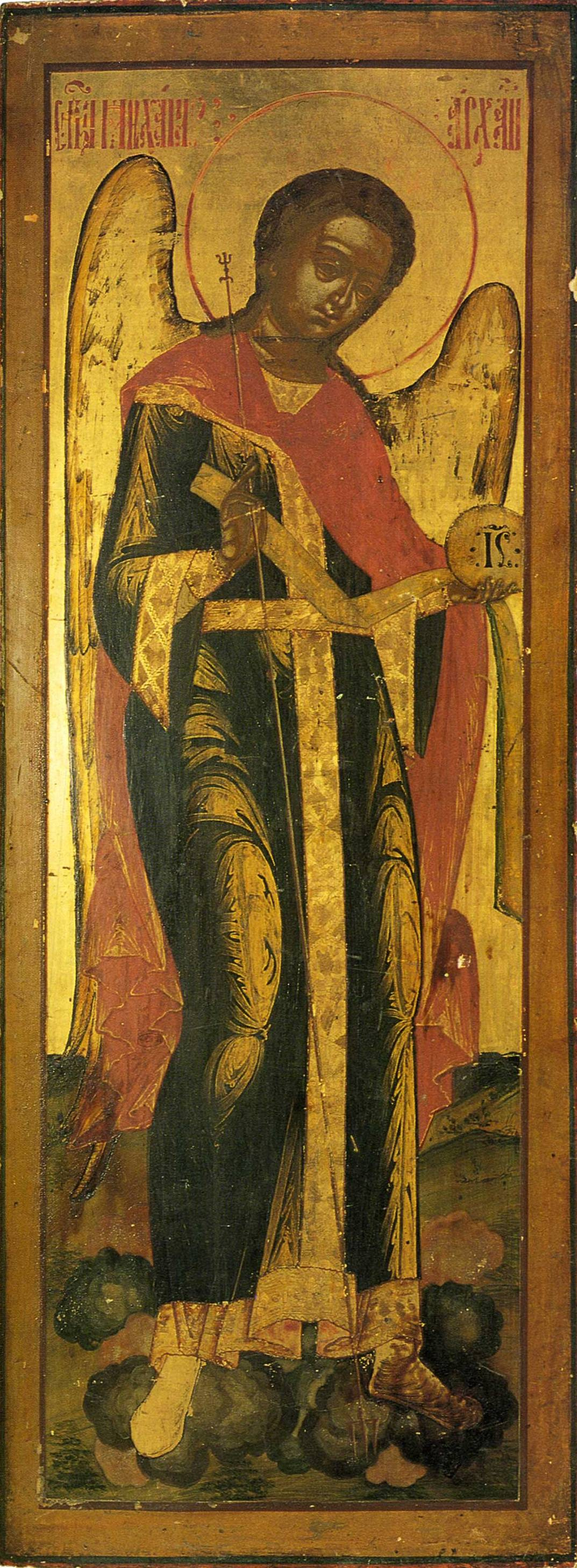 Icon Painting. Archangel Michael (Nevyansk)