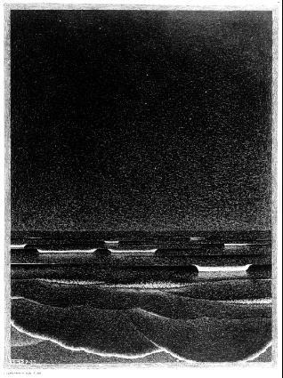 Мауриц Корнелис Эшер. Ночное небо