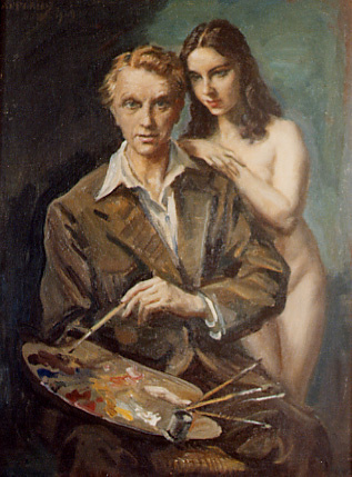 George Owen Wynne Upperley. The artist and the model