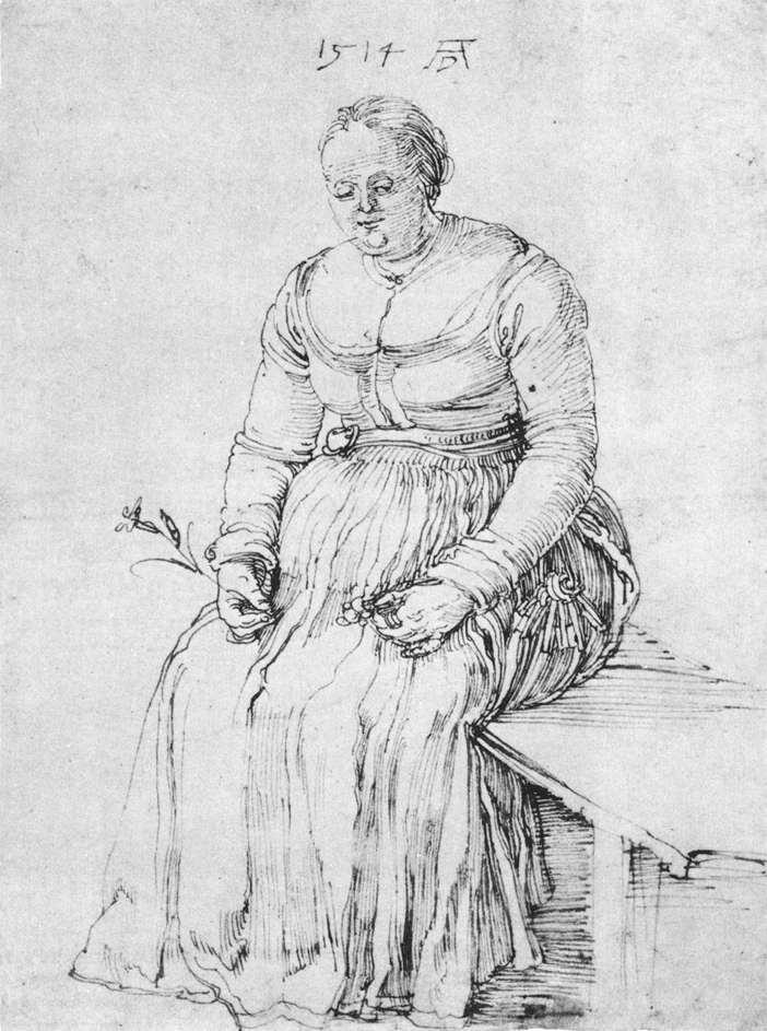 Albrecht Durer. Seated woman