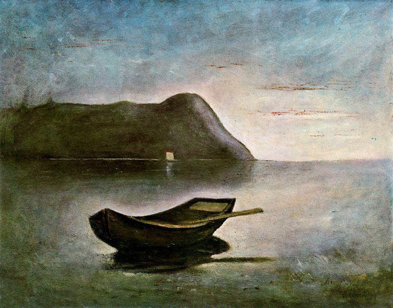 Карло Карра. Лодка на берегу