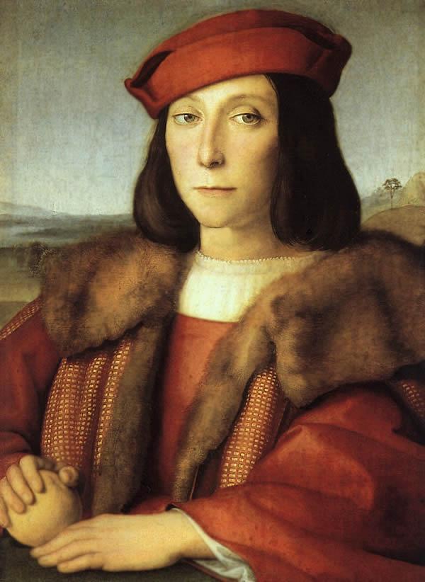 Рафаэль Санти. Портрет юноши с яблоком