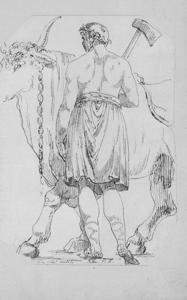Жак-Луи Давид. Римский палач и жертвенный бык