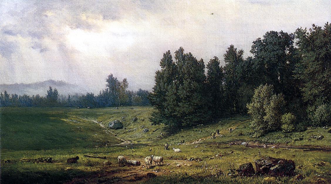 Джордж Иннесс. Пейзаж с овцами