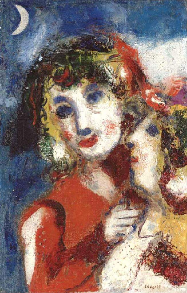 Marc Chagall. Bella and IDA at the moon