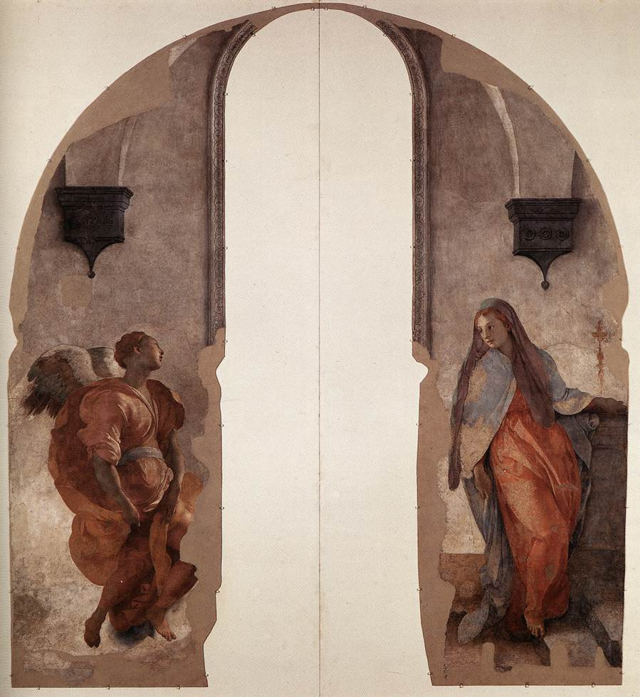 Jacopo Pontormo. Murals from the Capponi Chapel in the Church of Santa Felicita, Florence