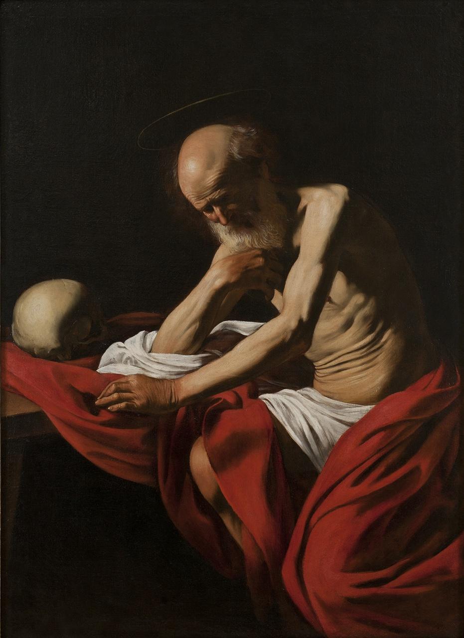 Michelangelo Merisi de Caravaggio. Saint Jerome in Thought