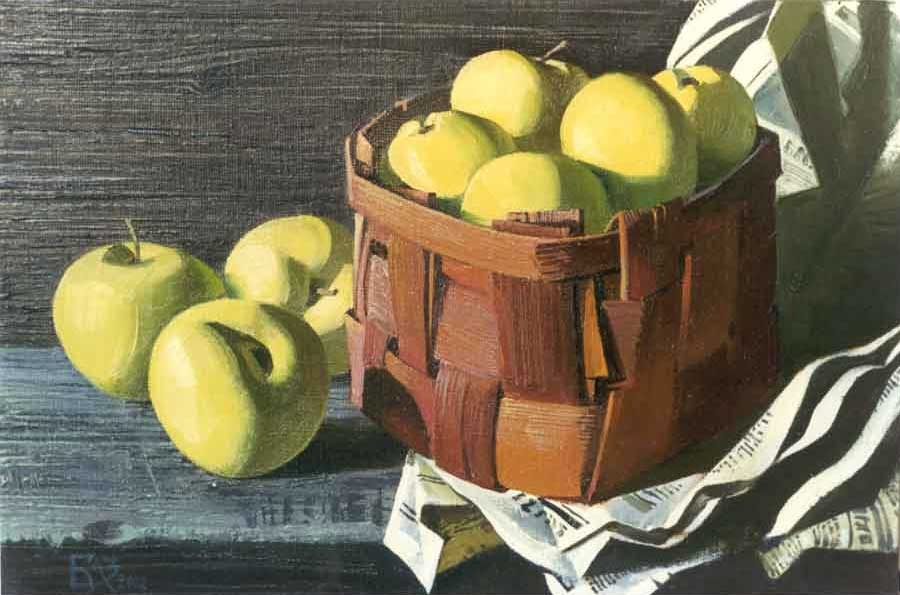 Андрей Николаевич Базанов. Still life with apples