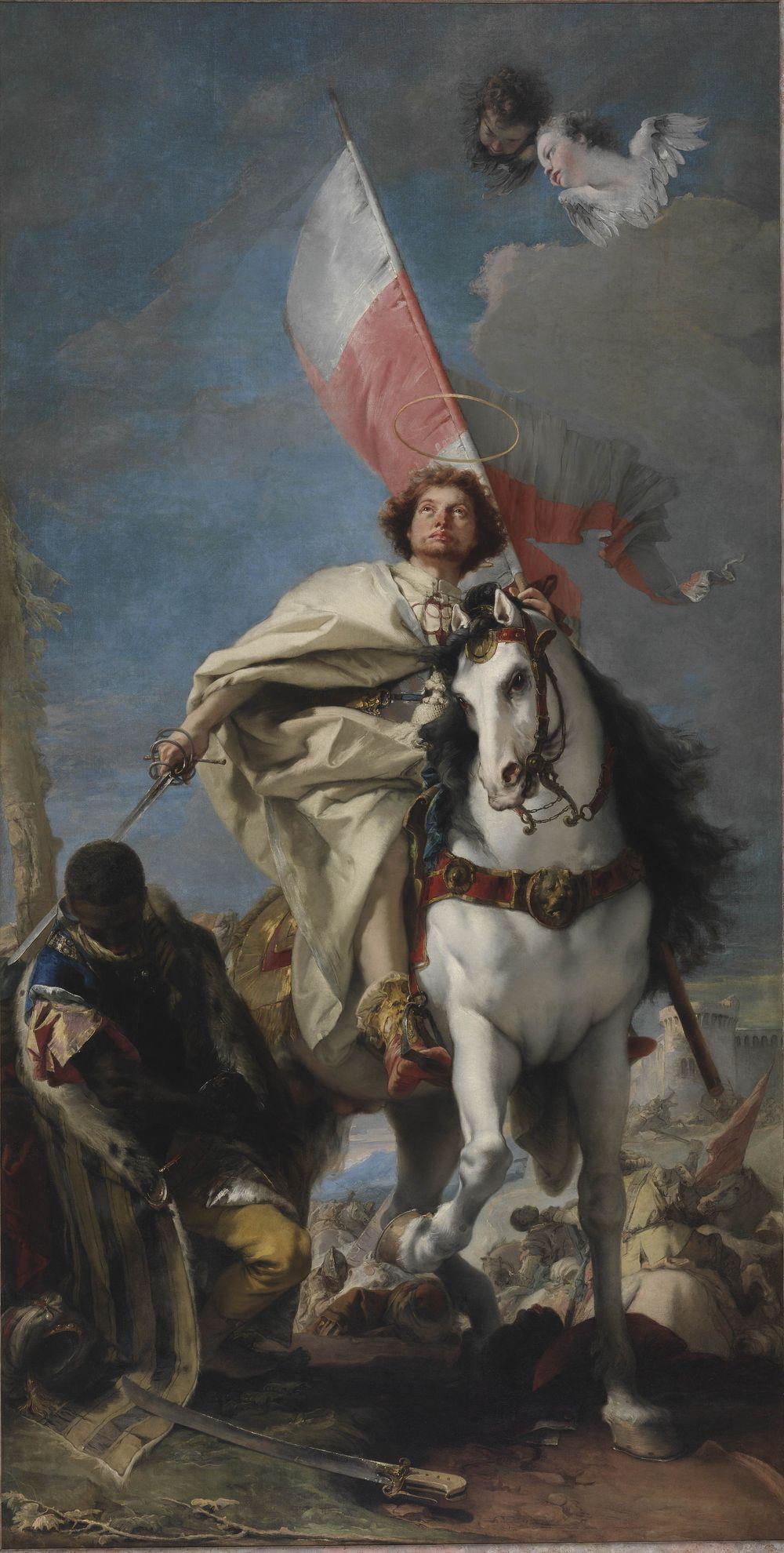 Giovanni Domenico Tiepolo. The Apparition of St. James at the Battle of Clavijo