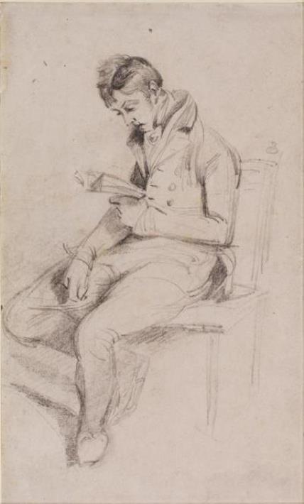 John Constable. The reading young man